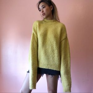 H&M Yellow Oversized Sweater